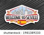 vector logo for seville  white...   Shutterstock .eps vector #1981389233