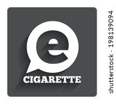 smoking sign icon. e cigarette...