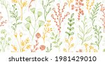 field flower sprigs organic...   Shutterstock .eps vector #1981429010