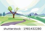 spring outdoor scene. beautiful ...   Shutterstock .eps vector #1981432280