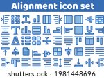 alignment color filled icon set ...