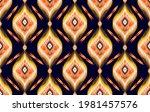 ikat tribal indian seamless... | Shutterstock .eps vector #1981457576