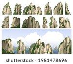 mountains  rocks  stones  peaks ... | Shutterstock .eps vector #1981478696
