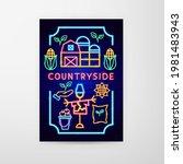 countryside neon flyer. vector...   Shutterstock .eps vector #1981483943