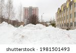A Large Snowdrift Piled On A...