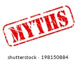 myths red text stamp on white... | Shutterstock .eps vector #198150884