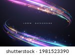 abstract neon color glowing... | Shutterstock .eps vector #1981523390