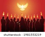an illustration of pentecost...   Shutterstock .eps vector #1981553219
