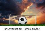 black and white football...   Shutterstock . vector #198158264