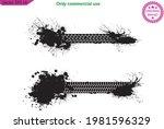 tire prints  car  track grunge... | Shutterstock .eps vector #1981596329