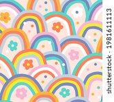 boho baby summer whimsical...   Shutterstock .eps vector #1981611113