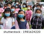 Children Wearing Face Masks...