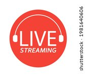 live broadcasting. the red... | Shutterstock .eps vector #1981640606
