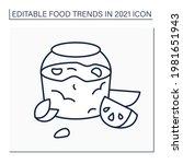 jelly recipe line icon.... | Shutterstock .eps vector #1981651943