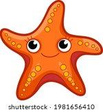 cute starfish cartoon. starfish ... | Shutterstock .eps vector #1981656410