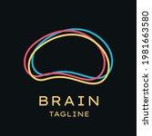 smart brain outline logo vector ... | Shutterstock .eps vector #1981663580
