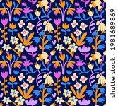 abstract aesthetic seamless... | Shutterstock .eps vector #1981689869