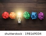 great idea concept with... | Shutterstock . vector #198169034
