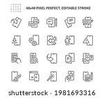 simple set of mobile apps... | Shutterstock .eps vector #1981693316
