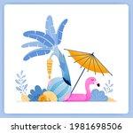 vector illustration of travel... | Shutterstock .eps vector #1981698506