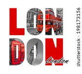 London Letters  Isolated On...