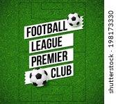 soccer football poster. soccer... | Shutterstock .eps vector #198173330