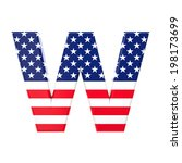 3d image of usa font letter on... | Shutterstock . vector #198173699
