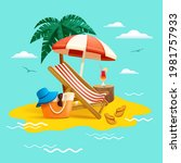 summer holiday beach vacation.... | Shutterstock .eps vector #1981757933