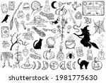 witchcraft symbols design... | Shutterstock .eps vector #1981775630