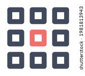 grid icon vector image. can...