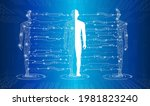 abstract background technology... | Shutterstock .eps vector #1981823240