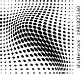 abstract halftone wave dotted... | Shutterstock .eps vector #1981825160