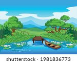 beautiful rural landscape with... | Shutterstock .eps vector #1981836773