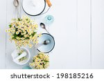 Chamomile Flowers  White Ename...