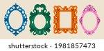 set of various decorative... | Shutterstock .eps vector #1981857473