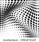 abstract halftone wave dotted... | Shutterstock .eps vector #1981873169