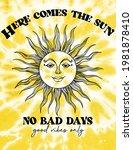 here comes the sun slogan print ... | Shutterstock .eps vector #1981878410