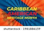 june is caribbean american...   Shutterstock .eps vector #1981886159