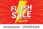 flash sale banner template... | Shutterstock .eps vector #1981893206