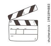 clapperboard film outline...   Shutterstock .eps vector #1981894883
