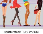 female legs | Shutterstock .eps vector #198190133