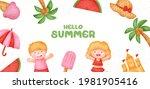 summer banner with summer... | Shutterstock .eps vector #1981905416