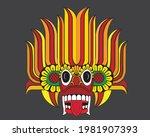 "sri lankan traditional ""raksha"" ...   Shutterstock .eps vector #1981907393"