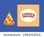 slice of pizza with sausage ... | Shutterstock .eps vector #1981913510