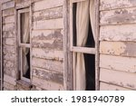Old Historic Wooden Cabin With...