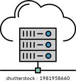 cloud storage concept ... | Shutterstock .eps vector #1981958660