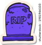 hand drawn tomb stone icon in...   Shutterstock .eps vector #1981966103