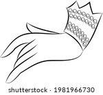 the beautiful hand gesture of... | Shutterstock .eps vector #1981966730