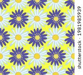 daisies are simple on a yellow... | Shutterstock .eps vector #1981985939
