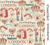 London Icons Seamless Pattern